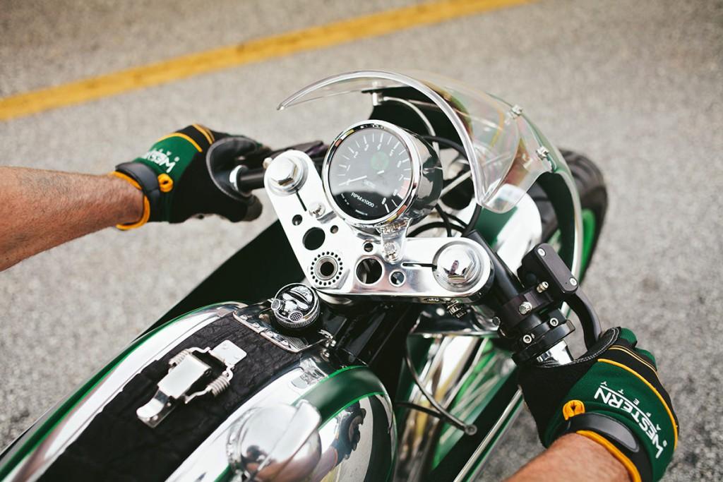 Norton commando par fuller moto, zoom sur le compteur