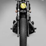 Vue de face de la moto